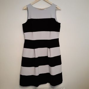 Loft Sleeveless Striped Dress